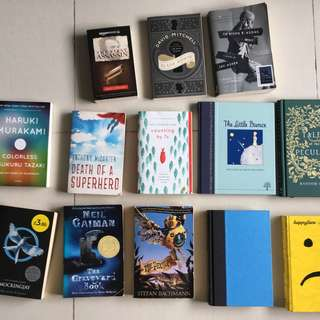 Assortment of Books with Wide Range