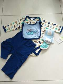 Baby boy 4 pcs romper set