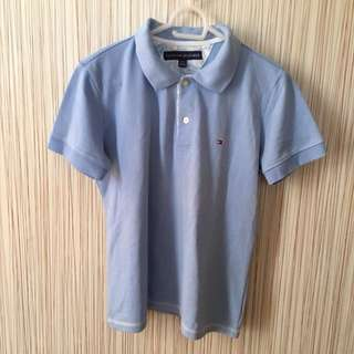 Baby Blue Tommy Hilfiger Collared Shirt