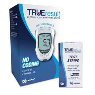TRUEresult Blood Glucose Meter Starter Pack (Meter Kit + 50s Test Strips)