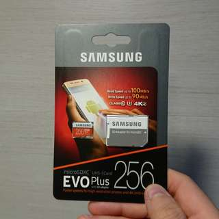 Samsung micro SD Card 256GB EVO Plus
