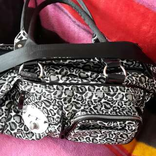 Mimco leopard spotted nappy bag