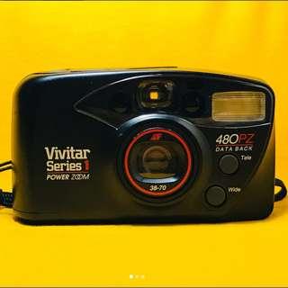 Vivitar Series 1 480 Powerzoom   35mm film point and shoot camera