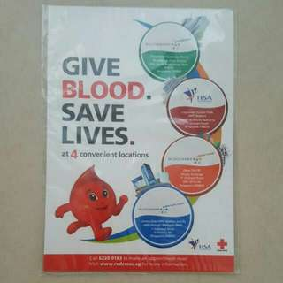 BLESS📬Brand New Give Blood To Save Lives Fridge Magnet