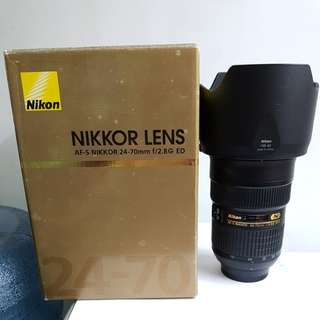 Like New - Nikon AFS 24-70mm f2.8 G ED Nano
