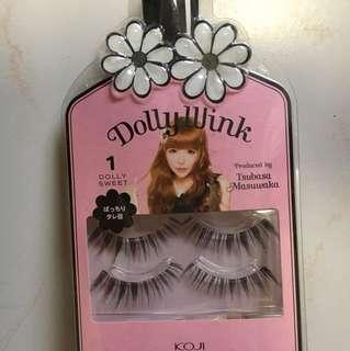 Dolly wink - dolly sweet no. 1 // 2 pairs new box still sealed // false eyelashes lashes 2 pairs