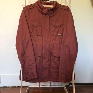 Burgundy jacket - Size 8