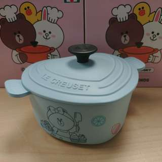 Le Creuset for Line Friends Choco心形鍋儲物盒