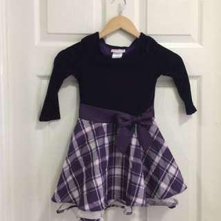 Ashley Ann Purple Party Dress - Size 4T