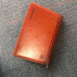 Starbucks zip leather planner