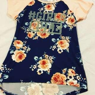 Girls Rule floral top