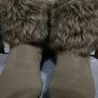 Viva circus boots kulit (authentic leather) murah preloved import hongkong