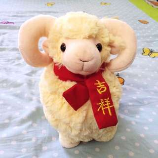New Cute Sheep Mascot Doll 吉祥娃娃