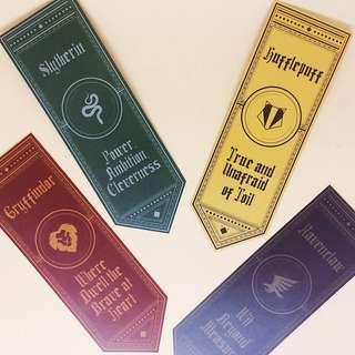 Hogwarts House Banner Bookmark SET