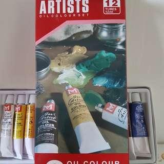 Oil Paint and Calendar