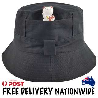 Black Cotton Bucket Hat