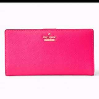(購自英國專門店) Kate Spade  全新 粉紅色 中長銀包