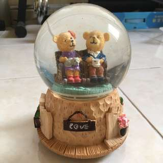 Teddy Bear Crystal Ball Rotating Music Box