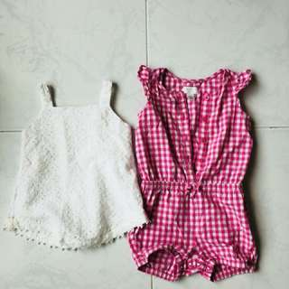 Toddler tops and Romper