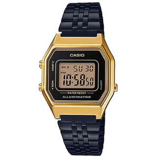 Casio Vintage LA680WEGB-1A Black Plated StainlessSteel Watch - COD FREE SHIPPING