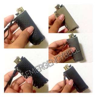 Lighter leather casing