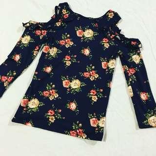 Shoulders Out floral shirt
