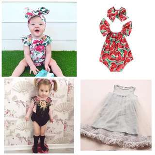 Baby rompers and Dress