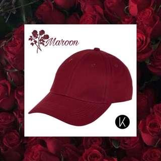 Maroon Cap Topi