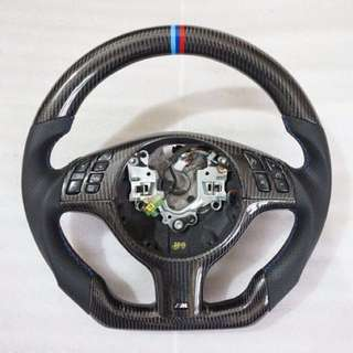 BMW E46 E39 三幅改裝碳纖維方向盤