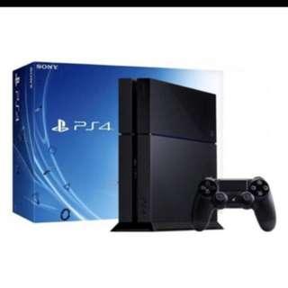 PS4 Console plus one remote