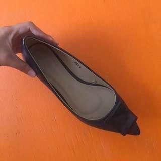 Parisian Joey Flat Shoes (Dark Blue)