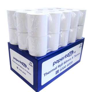 30 ROLLS OF POS THERMAL PAPER ROLL (80x76x12MM)