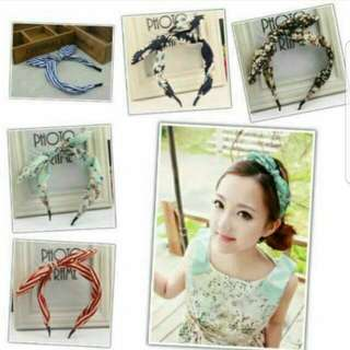 (3 for $8)Lady Ribbon Hair Band