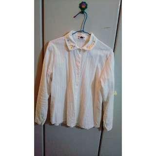 領口繡紋襯衫     雪紡短袖     晚宴裙