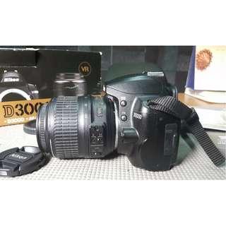 kamera Nikon D3000 VR Mulus Lengkap Box