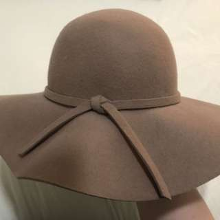 Brown felt floppy sun hat