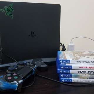 Sony Ps4 Slim Black Complete with games