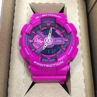 Casio G-Shock Resist GMA S110MP Women's Watch 女裝桃紅色錶