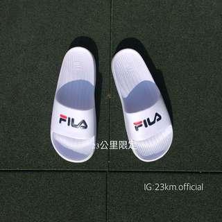 Fila 拖鞋 防水拖鞋 Logo