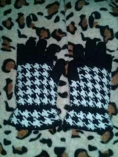 千鳥紋針織手套* #舊愛換新歡