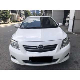 Toyota Altis for uber/ grab