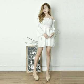 IMPORT BKK !  Dress Dian crepe  85.000