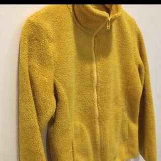 Uniqlo 刷毛黃色外套
