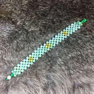 Type A Burmese Jade Jadeite Bracelet - 14.98g length of bracelet: 17cm dimensions of bracelet: 15 By 1.7 By 0.5cm