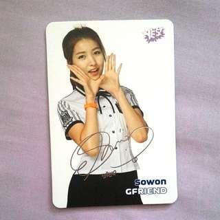 Gfriend Sowon yescard 銀簽 已絕版