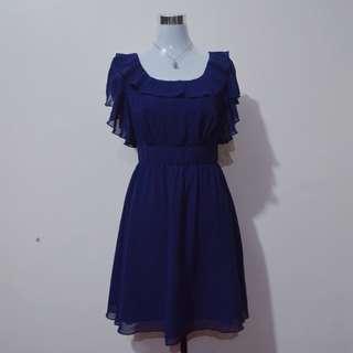XHILARATION Navy Blue Formal Dress