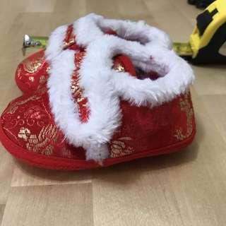 嬰兒新年節日鞋子(包郵)