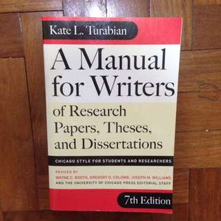 Kate Turabian A Manual for Writers - Chicago Style