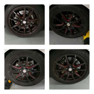 """17"""" rims with tyres  114.3x5"""