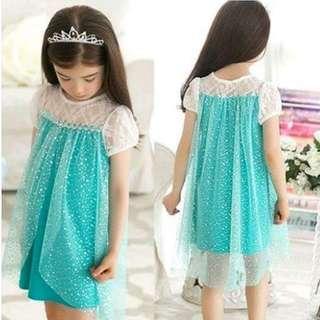 Frozen Elsa short sleeve dress